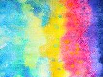 Fundo colorido da pintura da aquarela da cor do arco-íris da arte abstrato ilustração royalty free