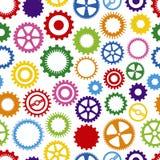 Fundo colorido da roda denteada Imagens de Stock