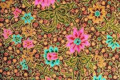 Fundo colorido da tela de pano do batik Fotos de Stock