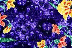 Fundo colorido da tela de pano do batik Fotos de Stock Royalty Free