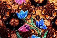 Fundo colorido da tela de pano do batik Fotografia de Stock Royalty Free