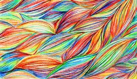 Fundo colorido da textura do teste padrão de ondas das tranças do arco-íris Fotografia de Stock Royalty Free