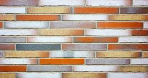 Fundo colorido da textura da estrutura da parede de tijolo imagens de stock