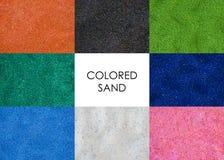 Fundo colorido das areias fotografia de stock