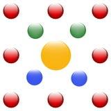 Fundo colorido das esferas Foto de Stock Royalty Free
