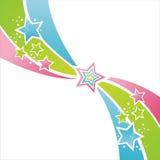 Fundo colorido das estrelas ilustração stock
