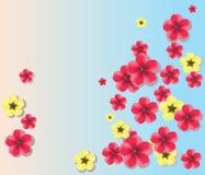 Fundo colorido das flores Ilustração Stock