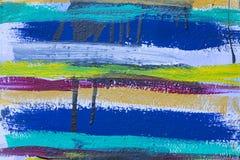Fundo colorido das listras da pintura acrílica imagens de stock royalty free