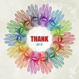 Fundo colorido das mãos. EPS 10 Fotografia de Stock