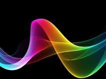 Fundo colorido das ondas claras do sumário ilustração stock