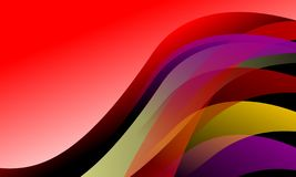Fundo colorido das ondas do vetor abstrato do papel de parede com as cores brilhantes que protegem o fundo da ilustração do vetor ilustração do vetor