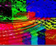 Fundo colorido das ondinhas Ilustração do Vetor