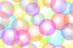 Fundo colorido de Bokeh das bolhas ilustração stock