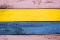 Fundo colorido de madeira Fotografia de Stock