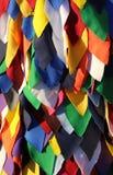 Fundo colorido de pano para criar um vestido bonito do carnaval Imagens de Stock