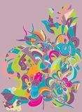 Fundo colorido digital abstrato do vetor Imagem de Stock