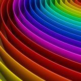 Fundo colorido do arco-íris, 3d Imagens de Stock Royalty Free