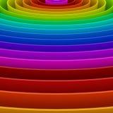 Fundo colorido do arco-íris, 3d Imagens de Stock