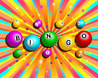 Fundo colorido do bingo Foto de Stock