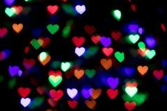 Fundo colorido do bokeh do coração Fundo do dia do ` s do Valentim Imagem de Stock Royalty Free