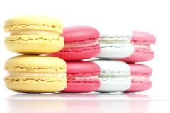 Fundo colorido do branco de Macaron Imagens de Stock