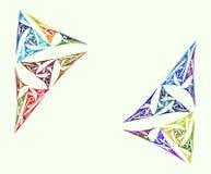 Fundo colorido do branco dos triângulos do Fractal ilustração do vetor