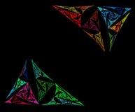 Fundo colorido do branco dos triângulos do Fractal ilustração stock