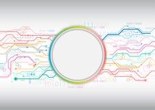Fundo colorido do círculo do circuito ilustração royalty free