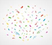 Fundo colorido do Confetti Vetor Fotos de Stock