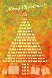 Fundo colorido do cumprimento do Feliz Natal Foto de Stock