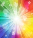 Fundo colorido do efeito da luz ilustração do vetor