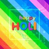 Fundo colorido do festival feliz do holi com cores do arco-íris Imagens de Stock