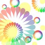 Fundo colorido do firewark da flor ilustração do vetor
