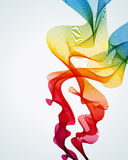 Fundo colorido do fumo Fotos de Stock