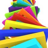 Fundo colorido do fundo 3d Imagens de Stock