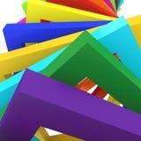 Fundo colorido do fundo 3d Fotografia de Stock