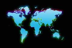 Fundo colorido do mapa de mundo Imagens de Stock Royalty Free