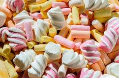 Fundo colorido do marshmallow imagem de stock royalty free