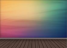 Fundo colorido do papel de parede com o assoalho de madeira da textura Foto de Stock Royalty Free