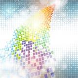 Fundo colorido do pixel ilustração stock