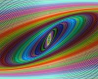 Fundo colorido do projeto do fractal da elipse ilustração do vetor
