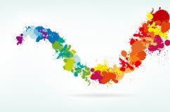 Fundo colorido do respingo ilustração do vetor