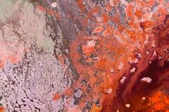 Fundo colorido do sumário do close up das pinturas de óleo dos artistas fotografia de stock