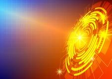 Fundo colorido do sumário da tecnologia do círculo e da luz ilustração royalty free