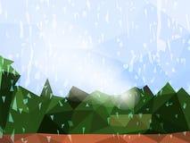 Fundo colorido do sumário do vetor de chover ilustração royalty free