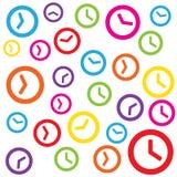 Fundo colorido do tamanco do relógio de ponto Imagem de Stock