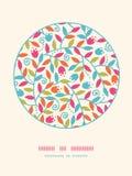 Fundo colorido do teste padrão da decoração do círculo dos ramos Imagens de Stock Royalty Free