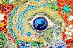Fundo colorido do teste padrão de mosaico Fotos de Stock