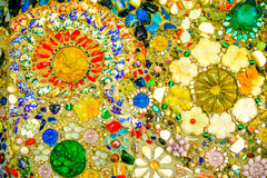Fundo colorido do teste padrão de mosaico Feito de cerâmico Fotografia de Stock