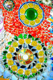 Fundo colorido do teste padrão de mosaico Feito de cerâmico Imagem de Stock Royalty Free